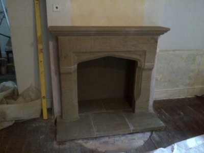 Chesneys Shelburne stone fireplace
