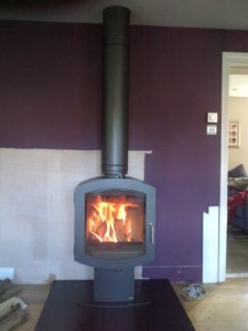 Firebelly Firepod Wood Burning Stove in charcoal