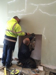 Installing flue liner