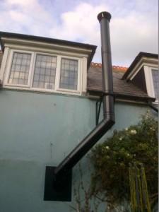 Poujoulat twin wall flue system