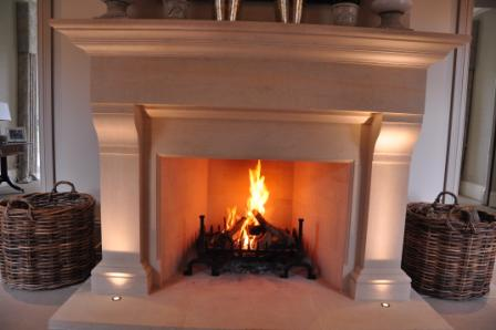 Hall bathstone fireplace installed and completed