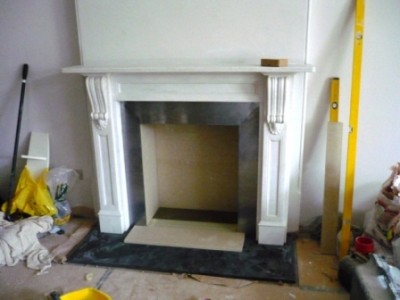 Installing steel slips for Chesney's Salisbury Stove