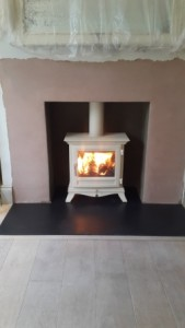 Ivory Beaumont stove 5kw by Chesneys