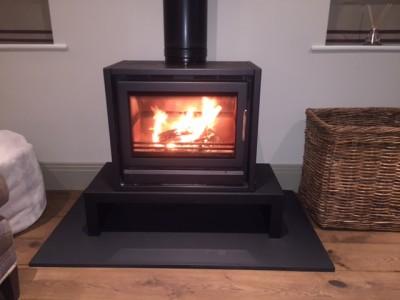 Contemporary Riva stove F66 by Stovax