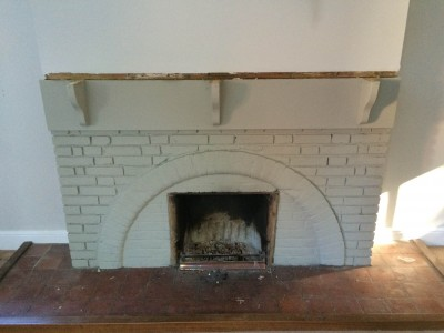 Removing the fireplace