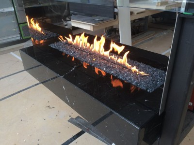 suspended fireplace remote burner testing