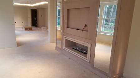 Nu Flame Fireboxx 750 gas fire hole in the wall
