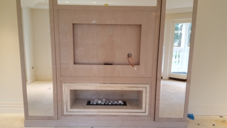 Nu Flame Fireboxx 750 gas fire hole in the wall bedroom fireplace