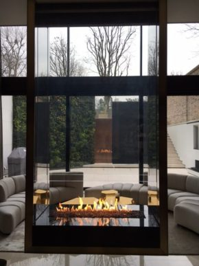Glass fireplace designs and installation