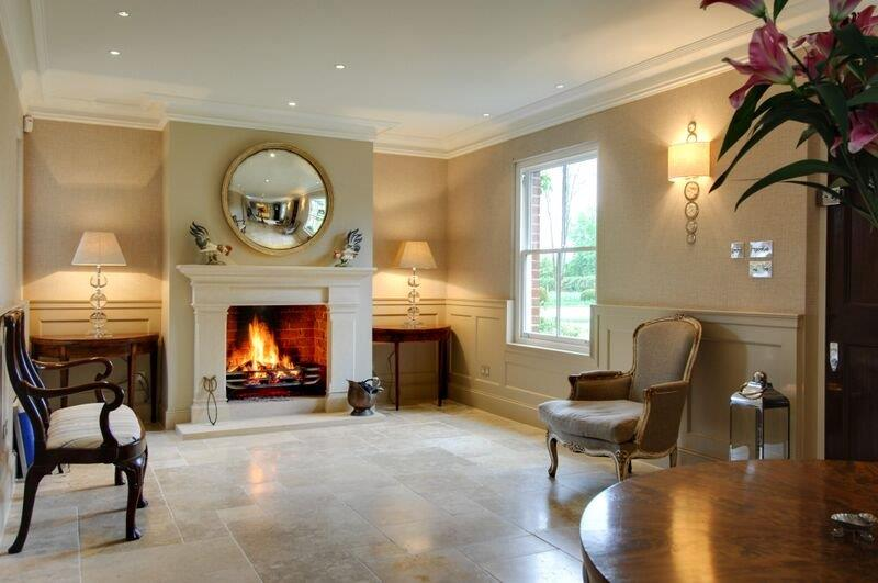 Bathstone hallway traditional fireplace in Winchester
