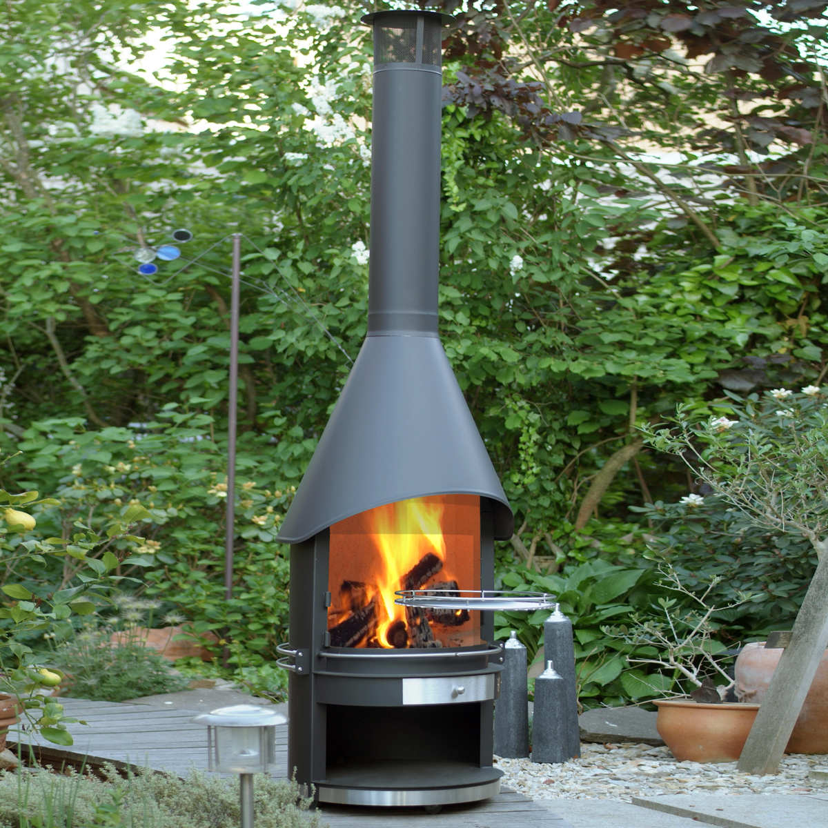 Outdoor fireplace and barbeque for summer entertaining by for Fireplace and bbq